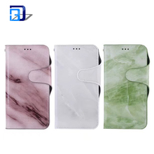 Luxury Marble Pattern PU Leather Magnetic Flip Folio Stand Wallet Case Protective Case Cover with Card Holder for iphone X