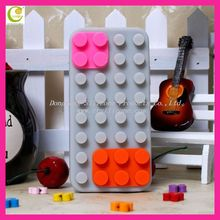 Fashion creative building blocks shape silicon case for iphone 5