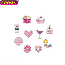 Colorful Enamel Happy Birthday Float Charms Set Fashion Jewellery Online
