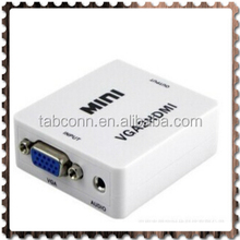 VGA to HDMI Konverter is a high-definition video converter which converts analog PC RGBHV and analog audio signal to digital