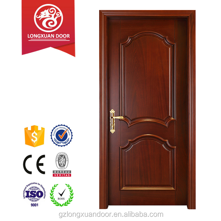 Fancy design fire rated tested interior wooden door used for hotel room, residential inner house entrance