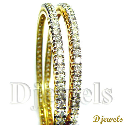 Diamond Solitaire Bangles, Gold Stud Bangles, Bangles Jewelry