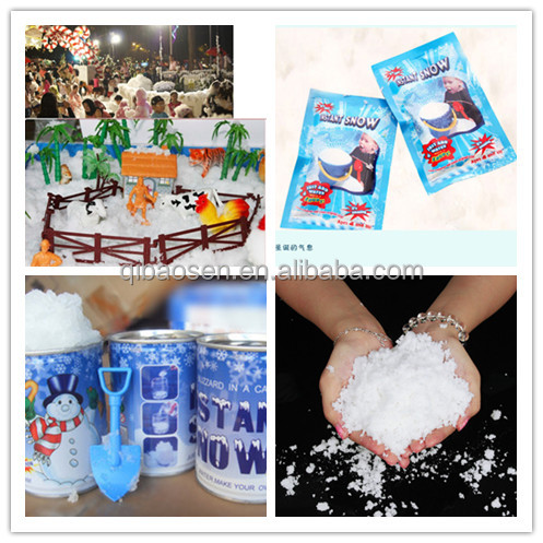2016 factory wholesale Instant snow powder fake magic snow outdoor artificial snow