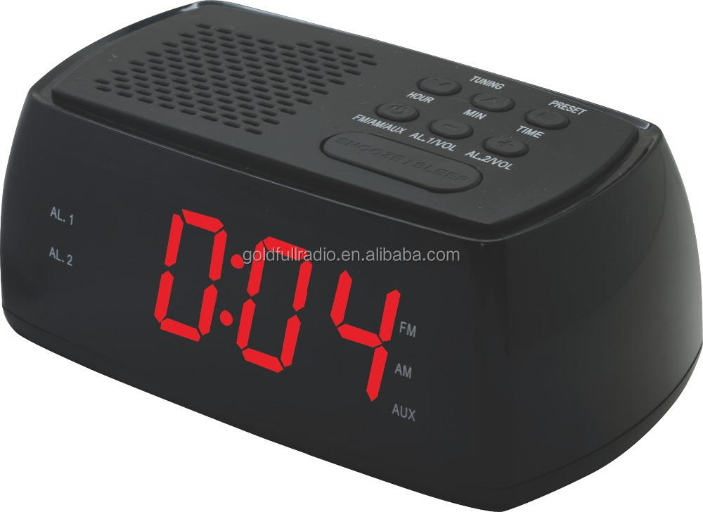High Quality 1.2Inch Snooze Table Desktop Bluetooth Radio led Digital Alarm Clock