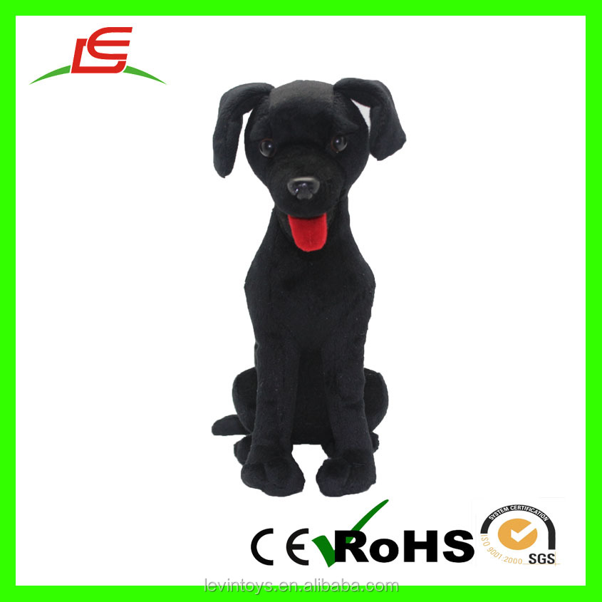 moving animals mechanical toys plush dog soft plush black dog