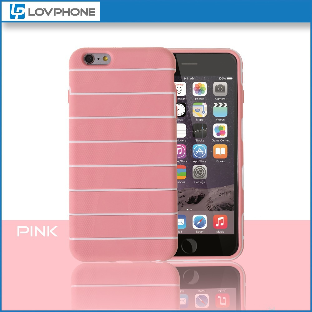 Clear Soft TPU + PC Housing Case Wholesale For Apple For iPhone 6 /6 Plus Housing Case
