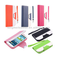 For Samsung Galaxy S3 Factory Price Case,Wallet Flip Stand Hybrid PU Leather Pouch Cover Case For Samsung Galaxy S3 i9300