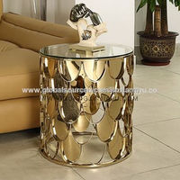 Side table high-end stainless steel for hotel/villa/home