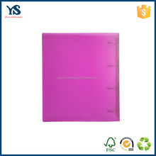 Professional custom colored hard cover file folder with 4 rings