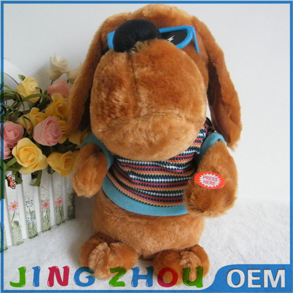 Factory OEM Stuffed Animals toys , animated Electronic dog Plush Toys for kids