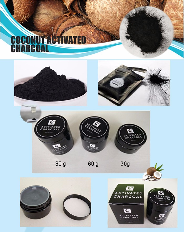Fresh Mint Flavor Teeth Whitening Type Black charcoal powder