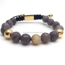 2018 Cz BALL Lava Stone Onyx Bead mixed beads charm bracelet design