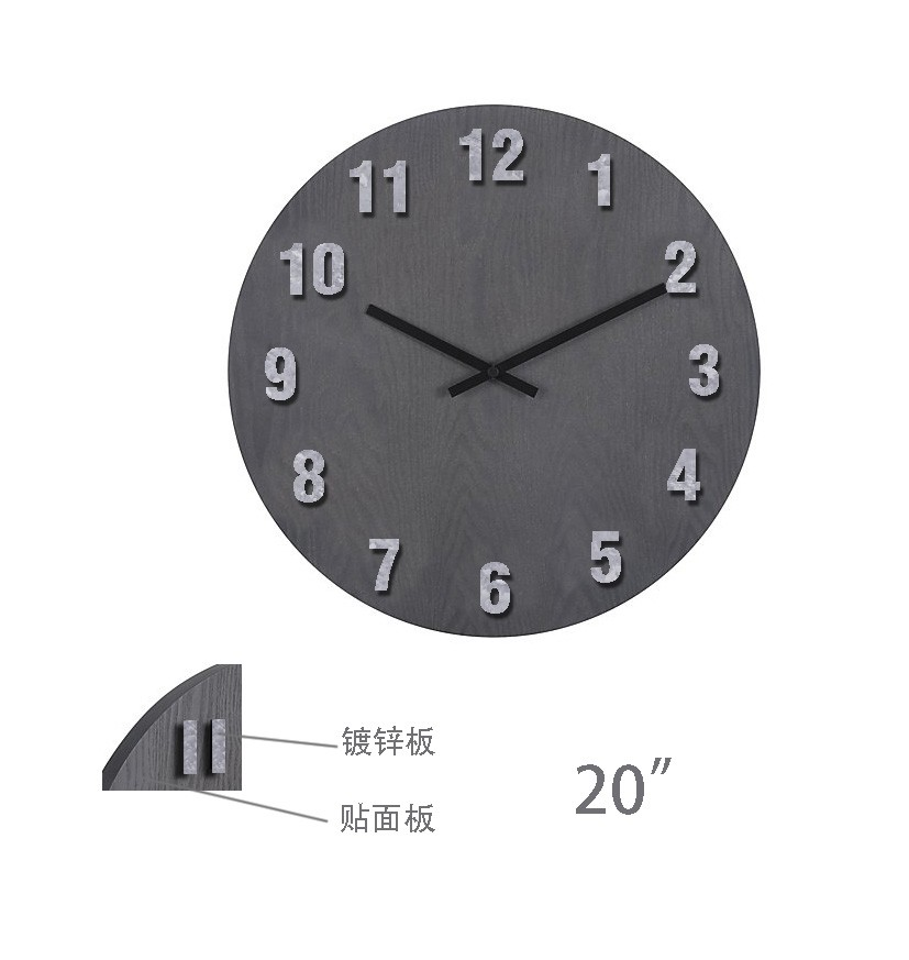 High Quality Modern Creative Artistic Home Office wall clock 3D