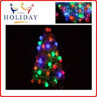 Round Shaped Plastic light up christmas Ball LED solar String Light Christmas ball Light