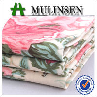 Mulinsen Textile Roll Packing Woven Spandex Sateen Fabric Cotton Dress Materials