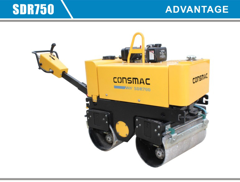 2014 Hdraulic walk behind mini single double drum bomag compactor road pedestrian vibratory roller