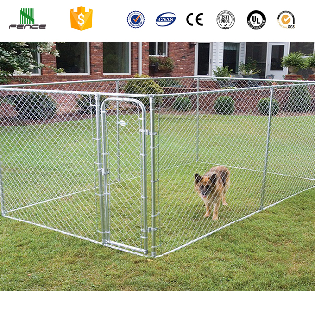 Metal outdoor chain link dog kennels direct factory / dog cages / dog house