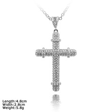 PZ1-0002 jewellery pendant necklaces religious cross charms in silver 925
