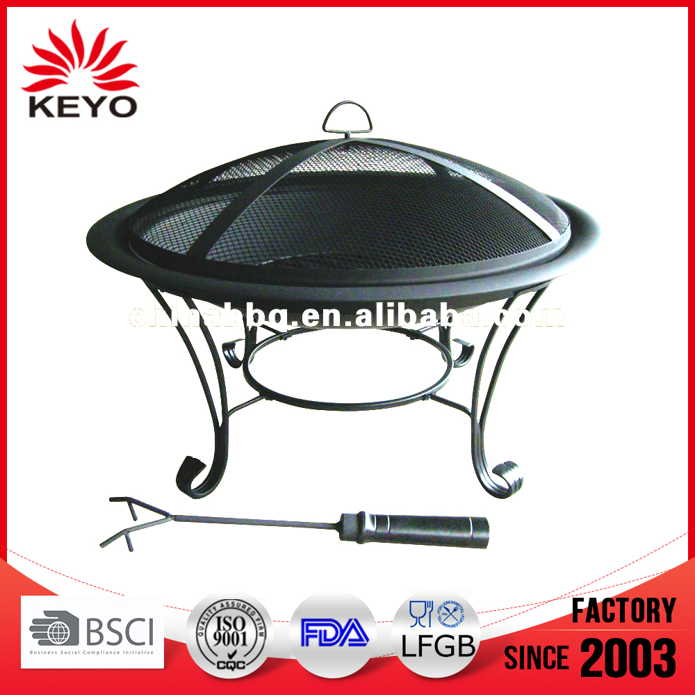 Garden slate table top fire pit outdoor fire pit