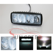 "Reliable 6"" mini marine led light bar, 18w led work light bar for car for mining, safety lights for trucks"