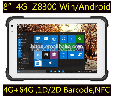 Factory Outlet!! Cheapest 8 inch windows10 rugged tablet, 4GRam 64GROM NFC WINDOWS tough tablet pc, waterproof 4g lte 8 inch pad
