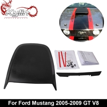 Kylin racing Car Styling Car Sticker Racing Black Hood Scoop for Mustang 2005-2009 GT V8