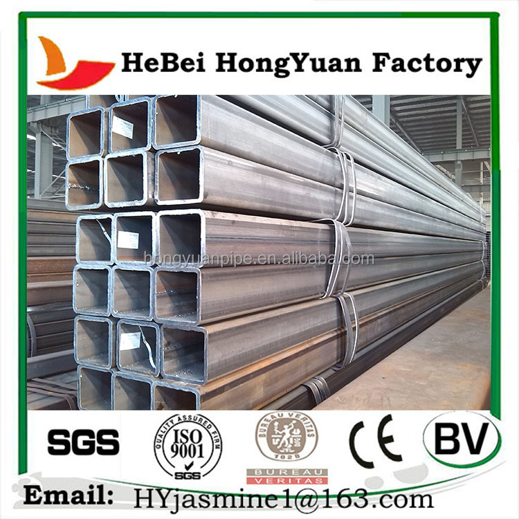 China Factory Q235 Square Hollw Section Black Steel Pipe/Tube For Buliding Material