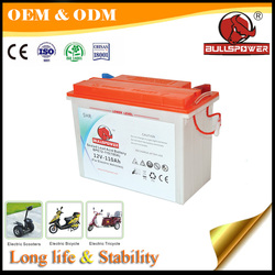 Long Service Life 12v 110Ah tricycle powered sealed lead acid battery