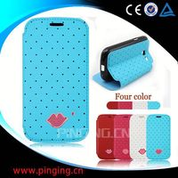 Sexy lips phone accessory leather cover for Asus fonepad 8 fe380cg flip case