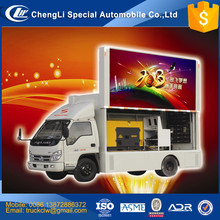 CLW Changan Mini 4x2 98hp LED video truck, Mobile LED van advertising, advertising led van mounted on truck customized advantage