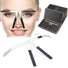 Metal Permanent Eyebrow Makeup Ruler Eyebrow Shaping Stencil Tools