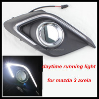 factory wholesale price Car Accessories light guide technology Led Daytime Running Light For Mazda 3 Axela DRL Cover Fog Lamp