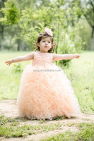 2015 Lace flower girl dress ruffle skirt ruffle pettidress for flower girls exquisite summer lace dress for toddle girls