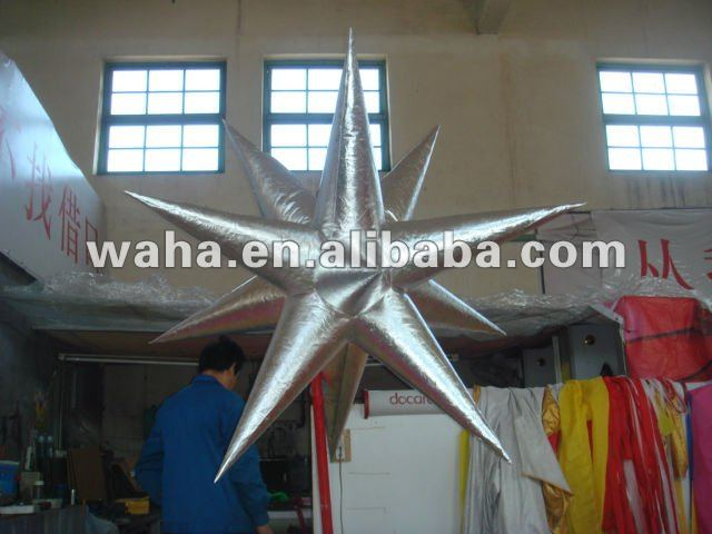 New hot decoration products for wedding/big event decoration inflatable horn led star