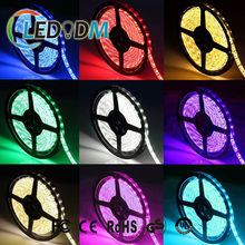 High Brightness SMD5050 RGB LED Strip IP20 DC12V 3M adhesive Tape On The Back