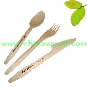 wooden disposable cutlery