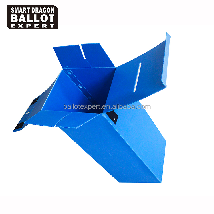 PP cheap corrugated plastic election box with blue