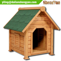 Rustic and simple dog house wooden, kennel