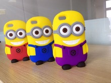 Wholesale shockproof cartoon despicable me case,despicable me 2 minions 3d case waterproof soft case for i5/5s/5c