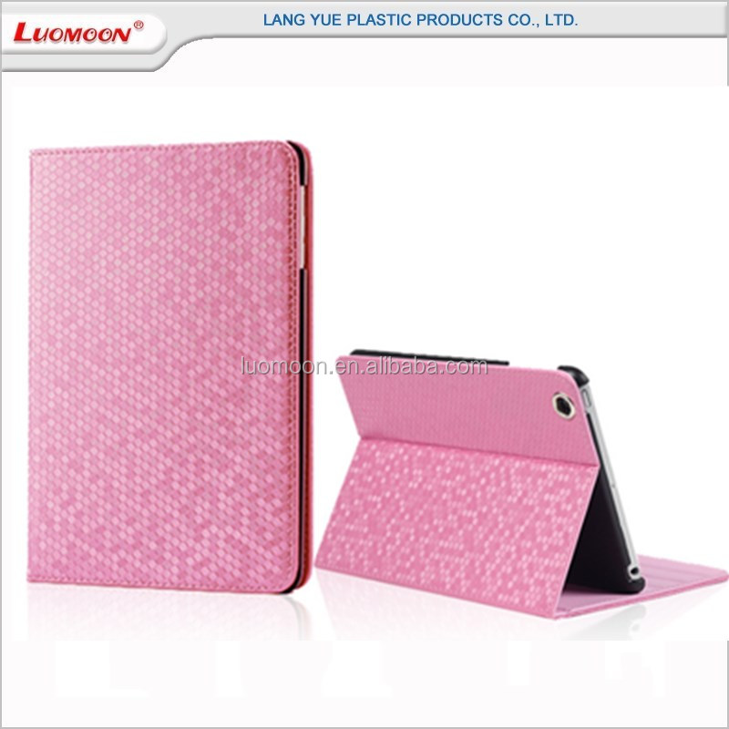 Unique luxury diamond card slot stand holder tablet leather case for ipad mini 4 3 2