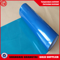 China supplier silicone coated blue pet release film supply