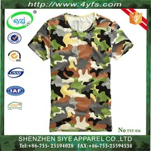 100% cotton Woodland military camouflage t shirts