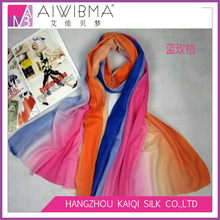 Alibaba china low moq long wool 3 gradient color indian wool shawl winter women shawls