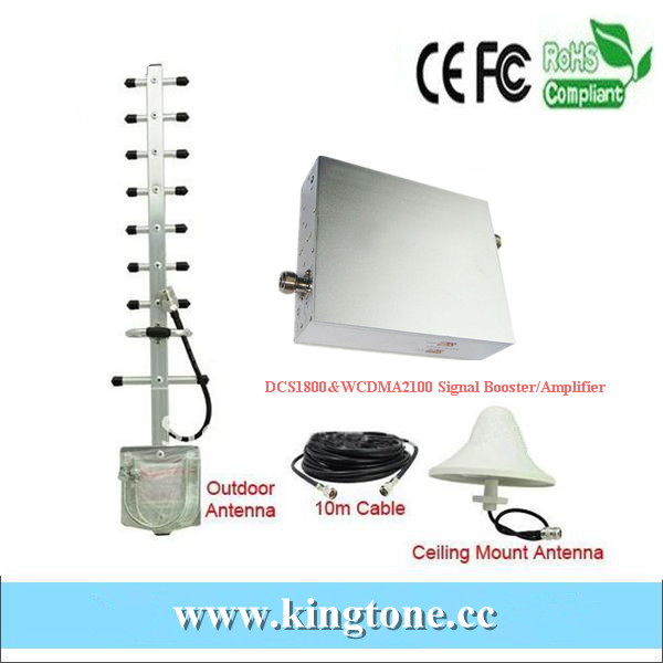 1800/2100 3g dual band cell phone Signal Booster,DCS/WCDMA Dual band booster repeater amplifier