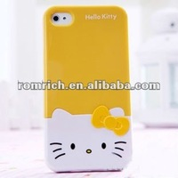 3D Bow Hello Kitty Hard Case cover for iphone4 4s