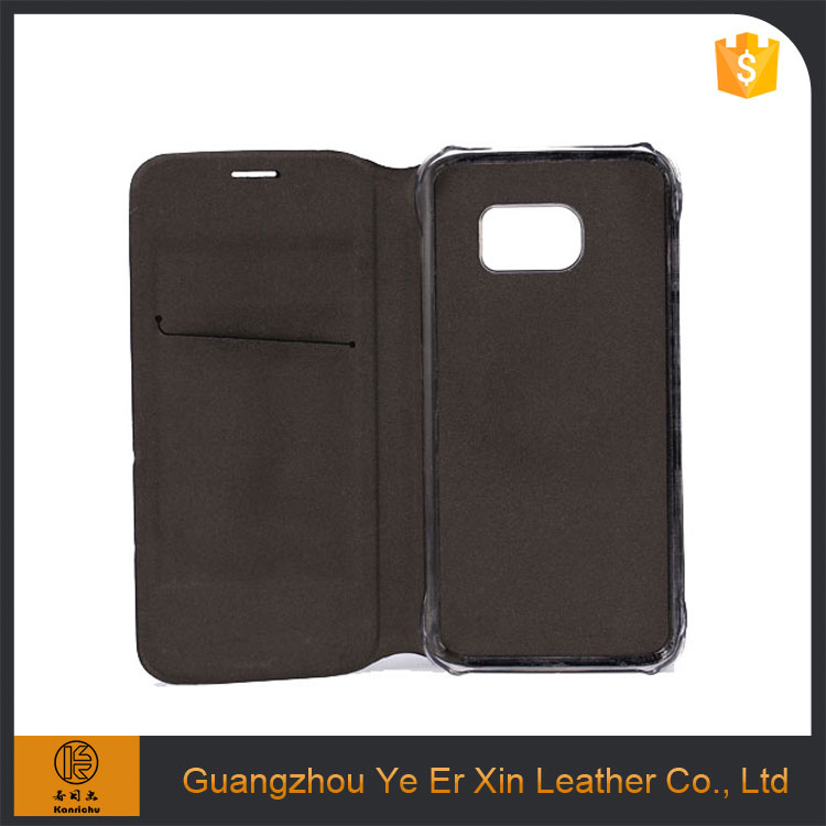 2016 new product lighter smart oem sublimation genuine leather phone case for samsung s5 s7 edge