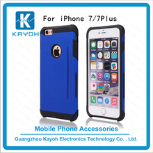 [kayoh]Mobile cell phone case with card holder for iphone 7 Plus,Slide Credit Prism Card Back Case