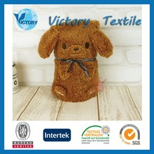 Polyester Weft Coral Fleece Teddy Bear Baby Blanket