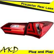 AKD Car Styling Toyota Corolla LED Tail Light 2014 New Corolla Altis Tail Lights Rear Trunk Lamp DRL+Turn Signal+Reverse+Brake