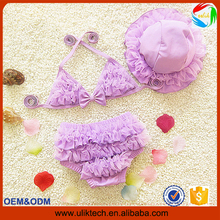 2016 Hot two pieces lace baby girl bathing suit for beach wear child bikini girl wholesale summer girl swimming suit (ulik-S009)
